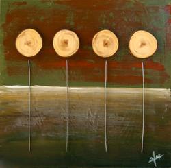 אומנות בעץ   חמניות