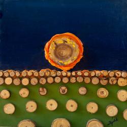אומנות בעץ   שקיעה