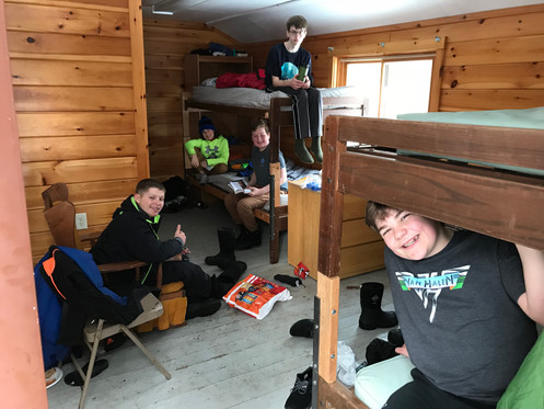 Hanging out on the bunks