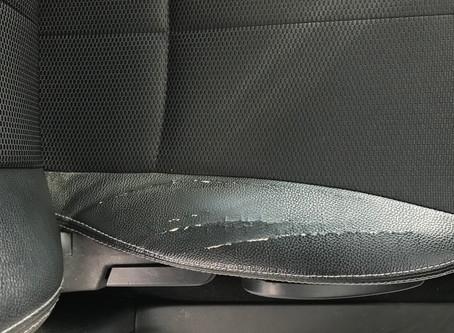 スバル エクシーガ 合皮シートひび割れリペア | 福島県いわき市