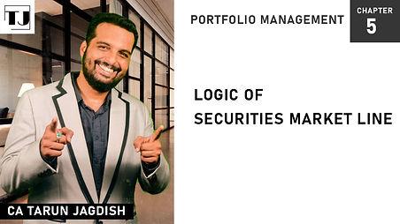 Securities market line