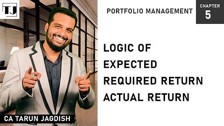 Expected return, Required return, Actual Return