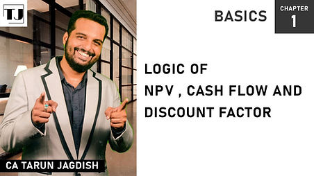 NPV, Cashflow and discount factor