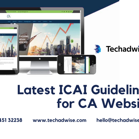 Latest ICAI Guidelines for CA Website | 2021 Updated