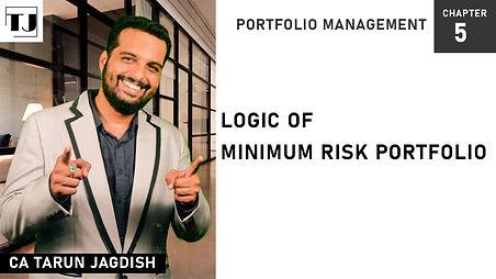 Minimum risk portfolio