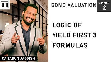 Yield - first 3 formulas