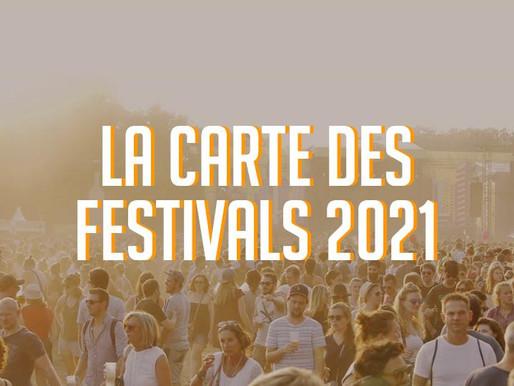 Une carte recense tous les festivals qui auront lieu cet été en France !