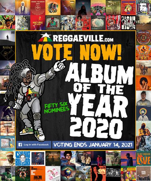VOTEZ MAINTENANT ! ALBUM DE L'ANNÉE 2020 @ REGGAEVILLE.com