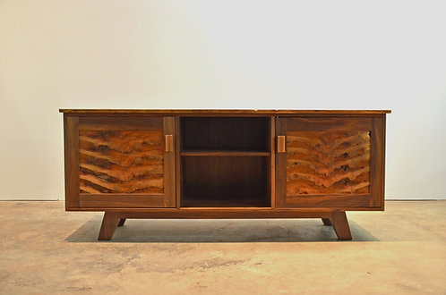 Mid-Century Modern Walnut and Cherry Credenza