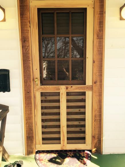 Cypress Screen Door