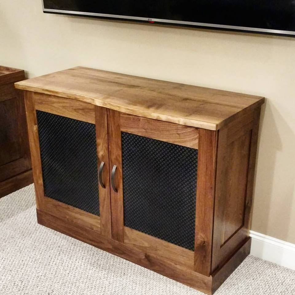 Walnut Cabinets and Pub Tables