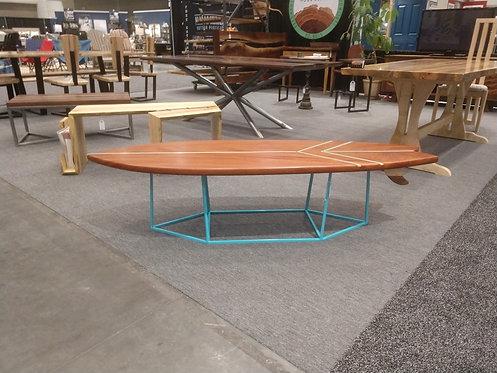 "Mahogany ""Cloud Surfer"" Coffee Table"