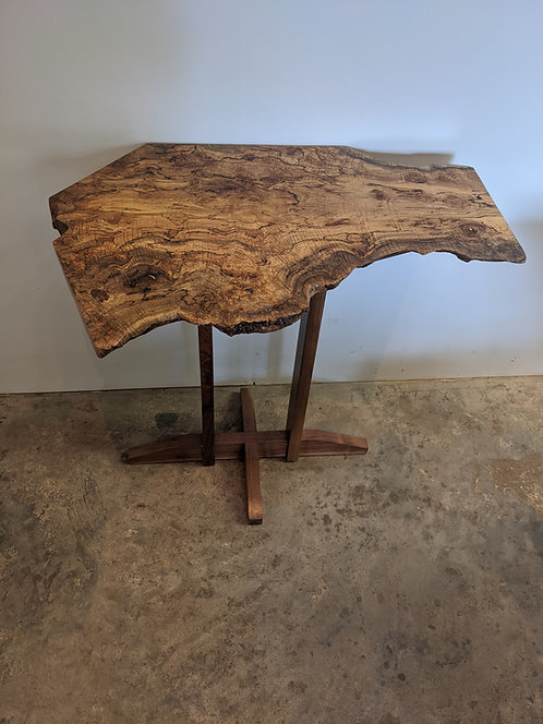 Burly Maple Accent Table
