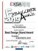 2019_Best Design Stand_Investec-EXSA_Awa