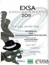 2011_Best Design Stand_Suzuki-EXSA_Award