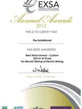 2012_Best Design Stand_Becker Mining-EXS
