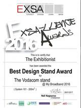 2016_Best Design Stand_Vodacom-EXSA_Awar