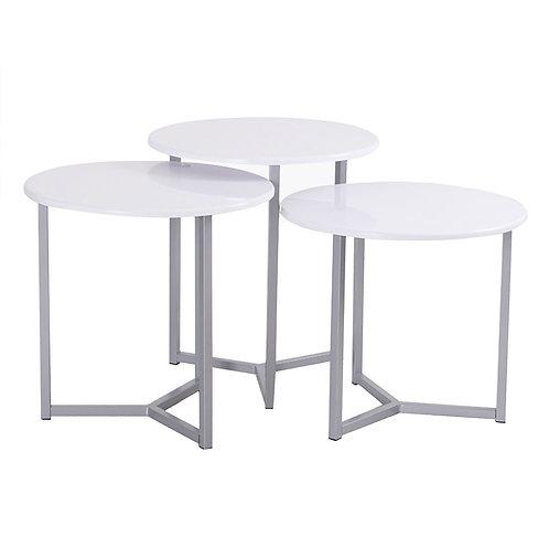 White Nesting Side table