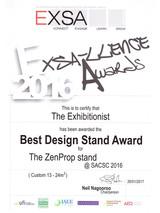 2016_Best Design Stand_Zenprop-EXSA_Awar