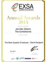 2015_Best Supplier-EXSA_Award-The_Exhibi