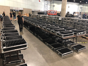 This is what 12,000 Brahler infrared receivers in LA look like!