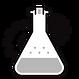 Recipiente de laboratório com engrenagens ao fundo
