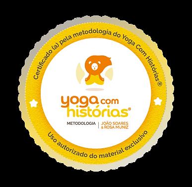 Selo Certificado Yoga Com Histórias
