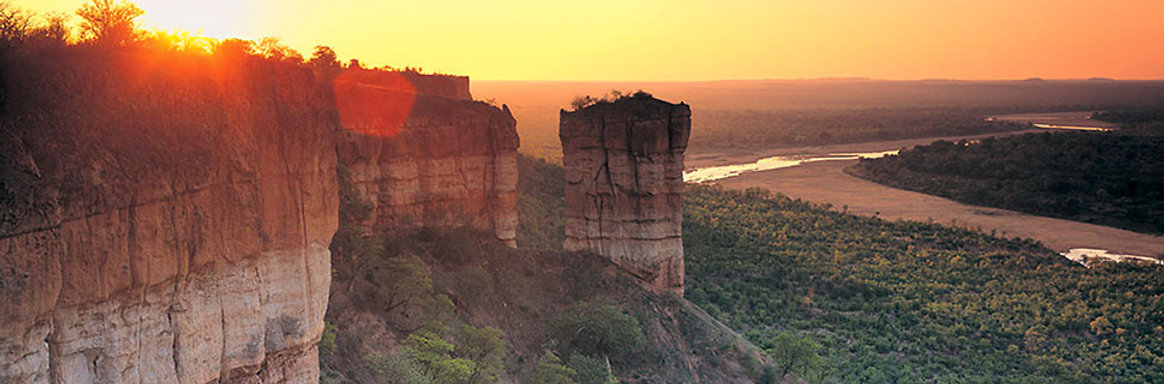 Cliffs of Splendour and Elephant sanctuary in Zimbabwe, Africa