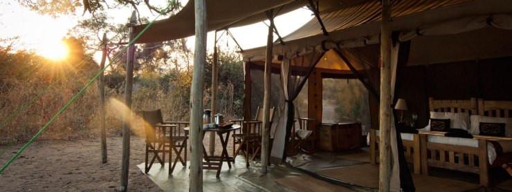 Tents at Ruaha
