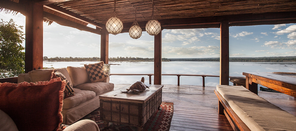 The beautiful Tongabezi Lodge on the Zambezi River near Victoria