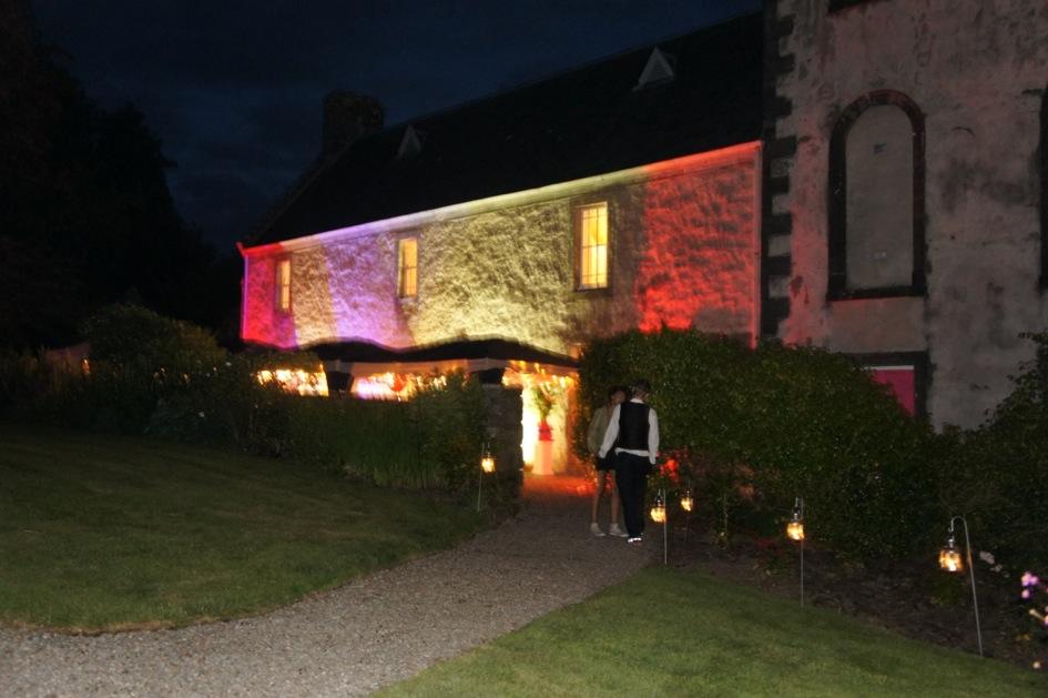 The chapel lit up