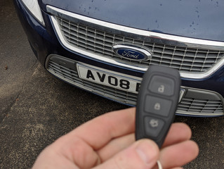 Ford Mondeo lost keys.