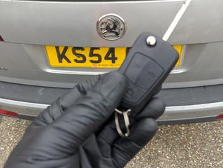 Vauxhall Vectra lost keys.