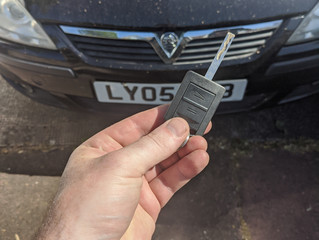 Vauxhall Corsa spare key.