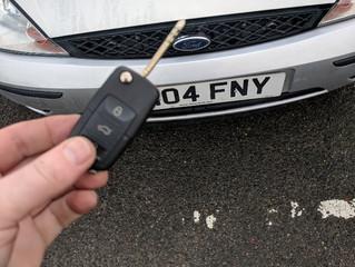 Ford focus lost keys.