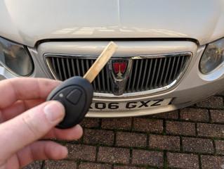 Rover 75 spare remote key.