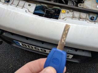 Fiat fiorino lost keys.