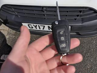 Transit custom spare key.