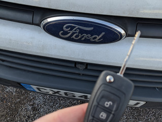 Transit custom spare key