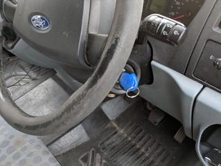 Ford Transit key accidentally washed.