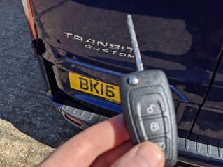 Ford transit custom key.