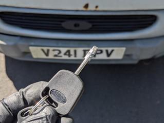 Ford transit lost keys.