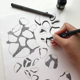Mark making drawing