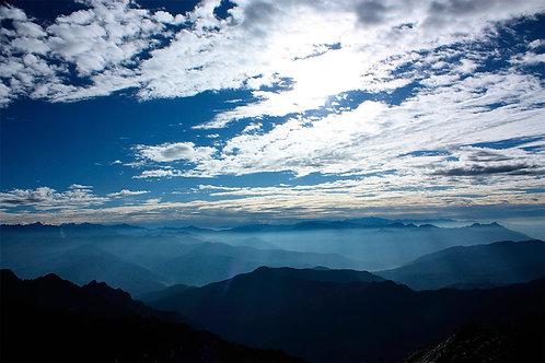 Morning scenery, Bhutan