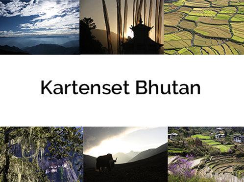 6er Kartenset BHUTAN