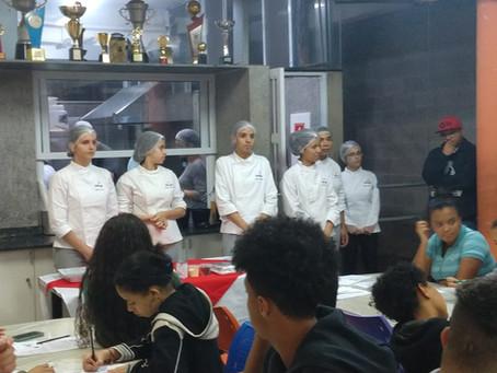 Oficina de Culinária Com Alunos do Senac na AFAGO