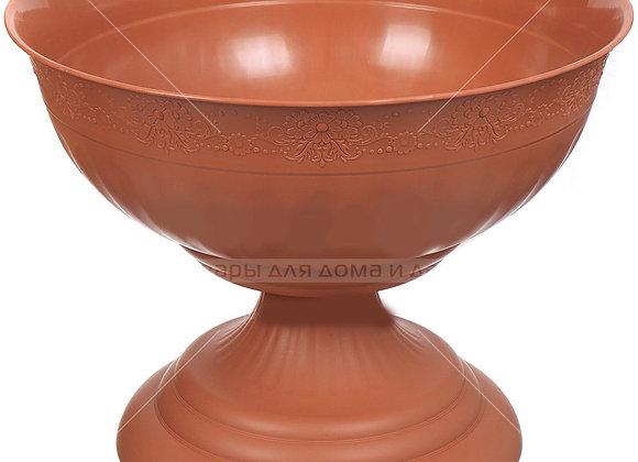Кашпо вазон Венеция, коричневый