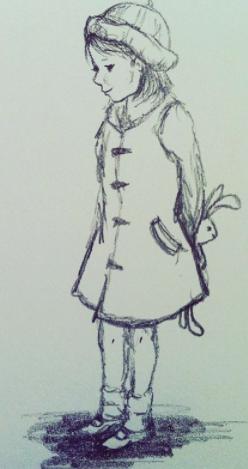 Little Girl in the Post Office Line