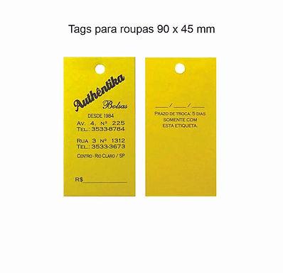 Tags para roupas 90x45 mm
