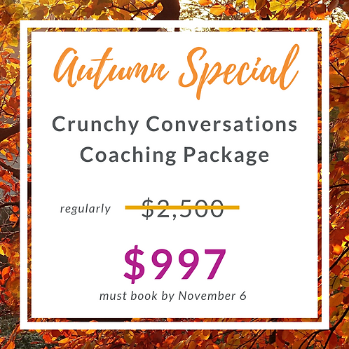 Crunchy Conversations Coaching 4pack